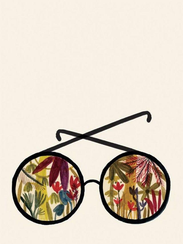 Pin Sunglasses Illustration