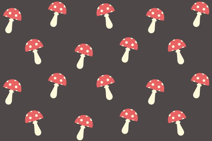 Free Mushroom Seamless Pattern Preview