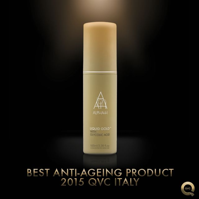 "Drum roll please….  Our iconic LIQUID GOLD has been named the ""BEST ANTI-AGING PRODUCT"" by QVC Italia viewers!  We are so delighted and thank everyone for voting for us! Much love xx"