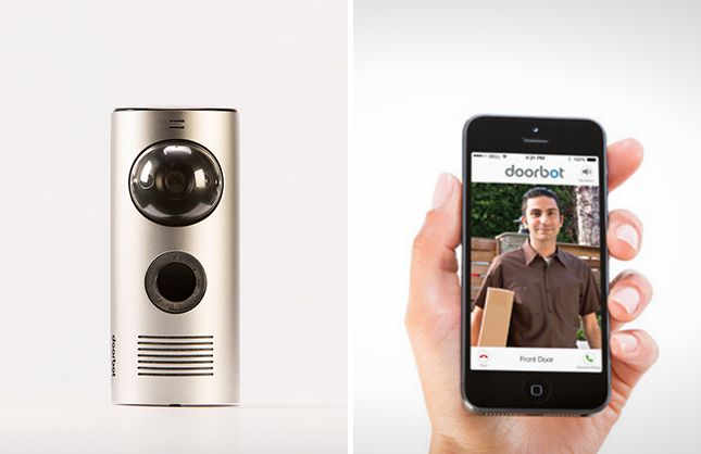 Doorbot is a video doorbell that shows what the camera sees on your smartphone. Way cool!