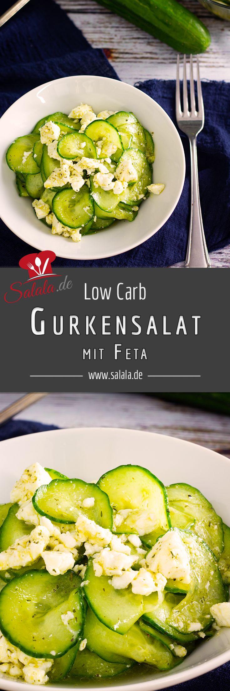 Machen Sie sich einfach Gurkensalat ohne Zucker. Sie können aufpeppen …   – Low Carb Rezepte deutsch von salala.de