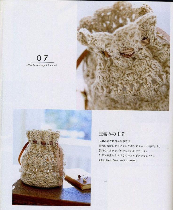 Patrones para Crochet: Bolso Saco Crochet Paso a Paso