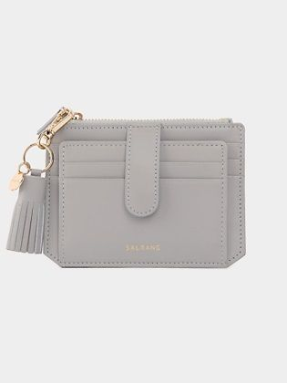 [SALRANG] Dijon 301S Flap mini Card Wallet light grey