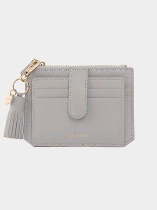 [SALRANG] Dijon 301S Flap mini Card Wallet light grey