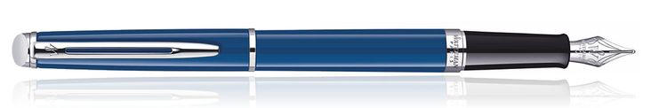 Waterman Hemisphere Fountain Pen in Blue with Chrome Trim