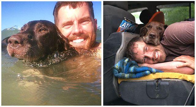Robert Kugler, de Nebraska ha llevado a su perro con cáncer en una aventura a través de América para celebrar sus últimos meses juntos.