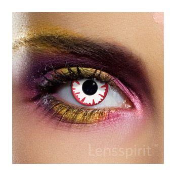 White Demon - Weißer Dämon (weiß rote Linse) - ideal für #Zombie oder #Monster #Kontaktlinsen