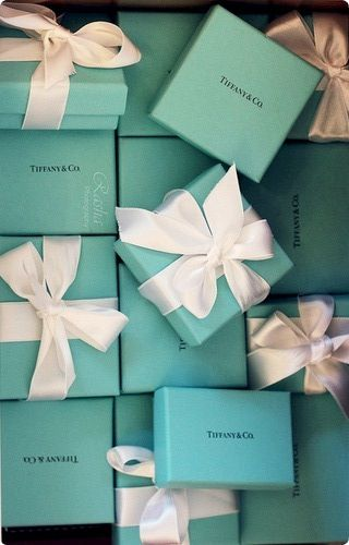 The affect a little blue box can have on a girl!  but way too expensive hah i just like this blue color