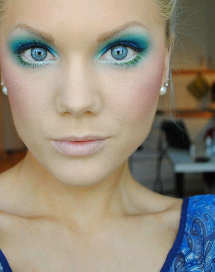 Makeup With Light Blue Dress Makeupview Co