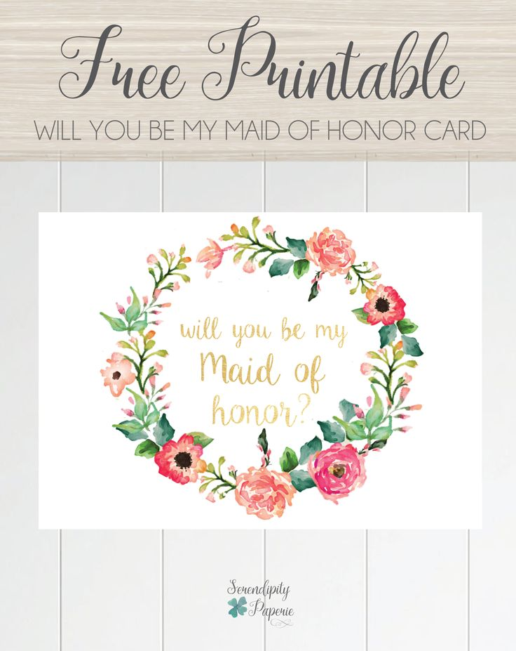 It is an image of Canny Bridesmaid Proposal Printable