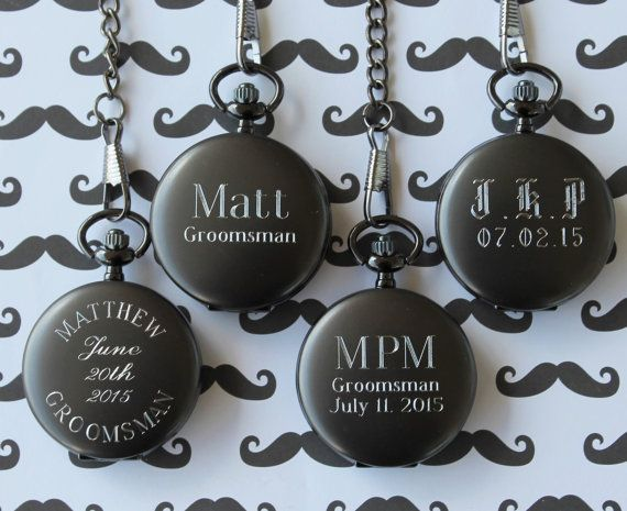 Personalized Gunmetal Pocket Watch  by MyPersonalMemories on Etsy