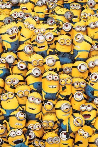 Poster MINIONS - Many Minions - http://rockagogo.com
