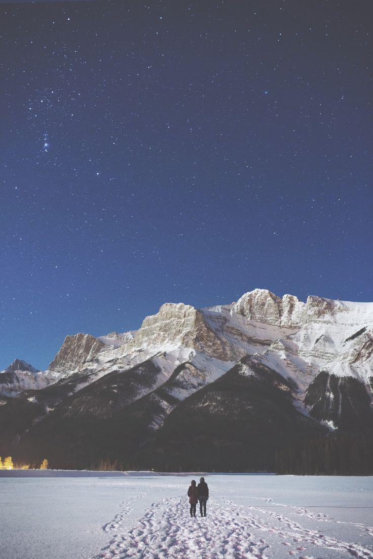 mountains // stars // snow