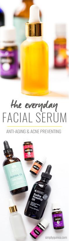 DIY Everyday Facial Serum made from jojoba oil, rosehip seed oil and my favorite essential oils!
