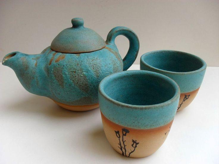 Patricia larrosa cer mica art stica tetera y tazas for Oxidos para ceramica