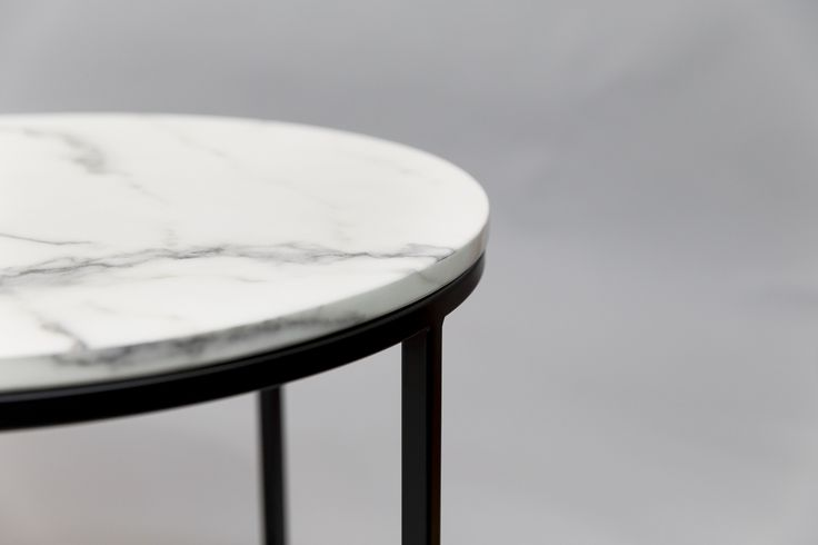 White Brooklyn Marble topped table by Design Kiosk