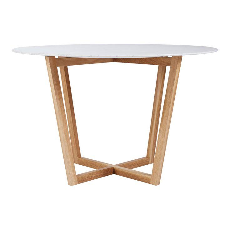 marcello round italian marble dining table oak: round white marble dining table