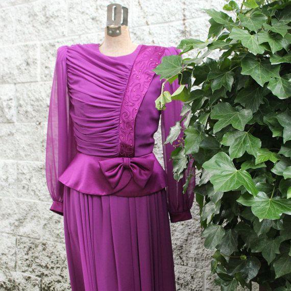 Magenta Lawrence Dress by Stanley Sklar by LennysVintageVault