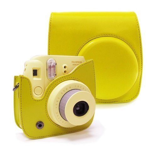 NodArtisan Yellow PU Leather fuji Fujifilm Instax Mini 8 Case bag:Amazon:Camera & Photo