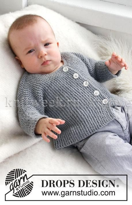 Jacket knitted across for the baby