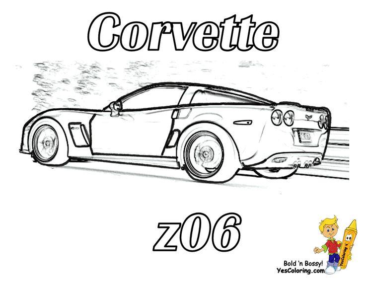 Cowtown Corvette Coloring Page Corvette Pinterest Corvette