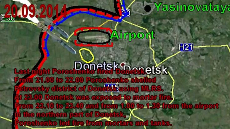 War in Ukraine 20/09/2014 Lugansk-Donetsk-Mariupol. The Fighting Map