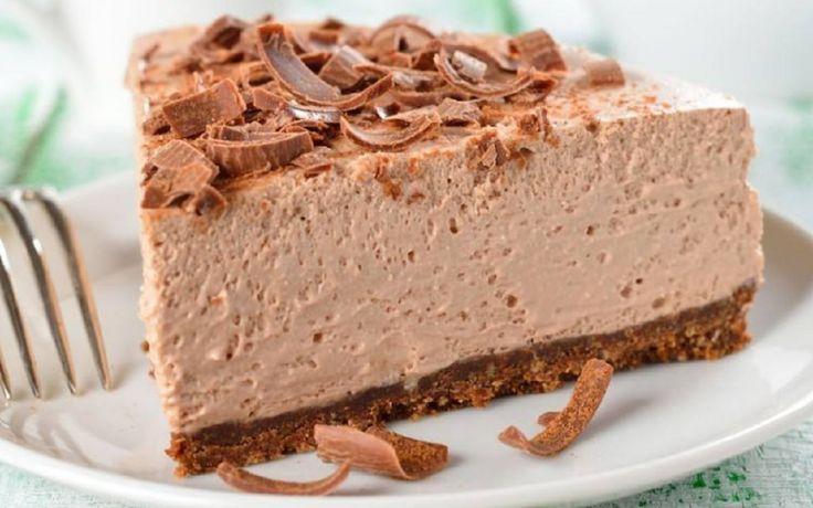 Recette : Gâteau au fromage et chocolat sans cuisson.