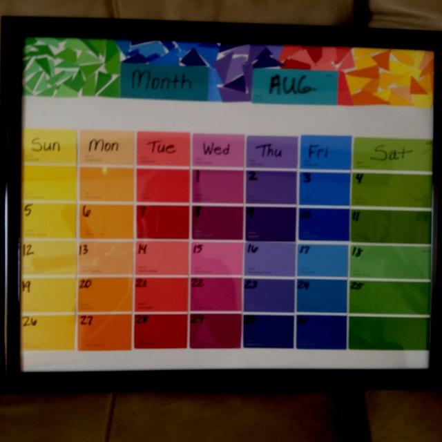 Paint Sample Calendar Diy : Paint sample calendar pinterest