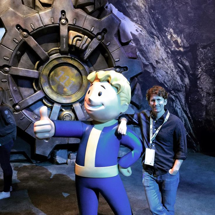 The man the legend the god Todd Howard with vault boy outside vault 111, you go Todd Howard, and release fallout 4...