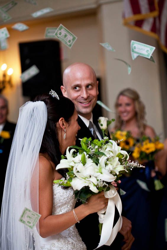 Monopoly money recessional. Love this!
