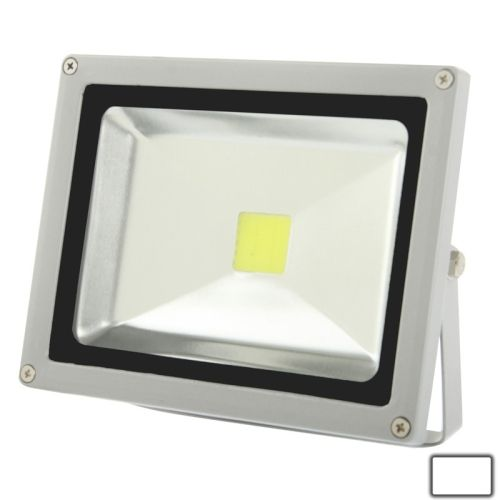 [USD12.76] [EUR11.88] [GBP9.18] 20W High Power White LED Floodlight Lamp, AC 85-265V, Luminous Flux: 1600-1800lm