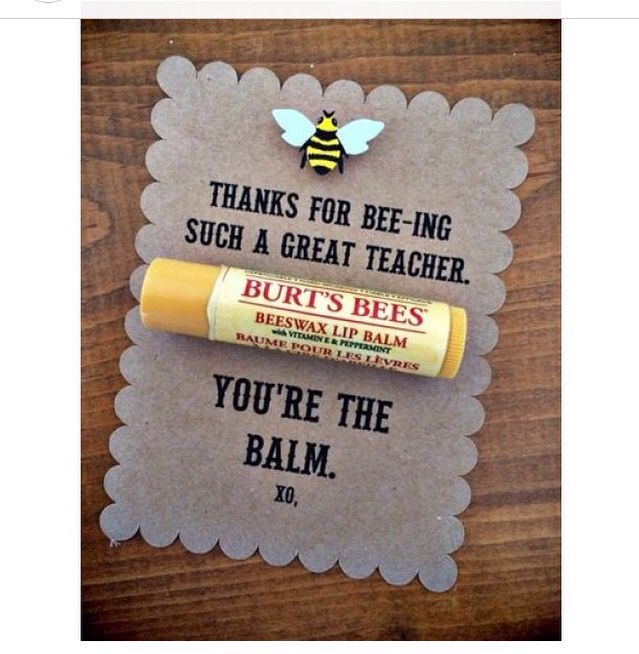Cute DIY gift. Burts bees lip balm