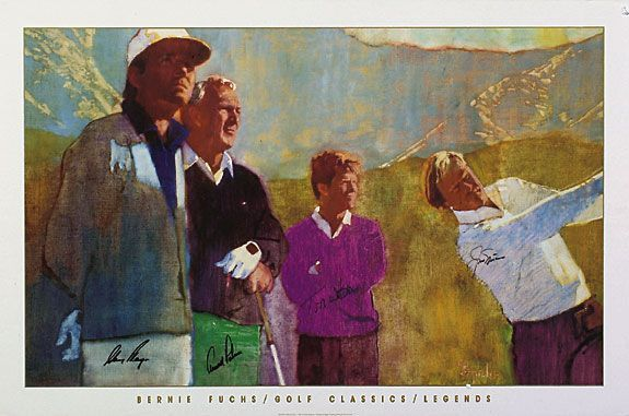 Golf Legends - Bernie Fuchs, Artist.  I have this print (not autographed), and I love it.