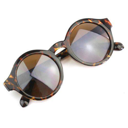 Nuevo Gafas de sol Leopardo UV400 Lente Redondo Regalo Moda para Hombre Mujer