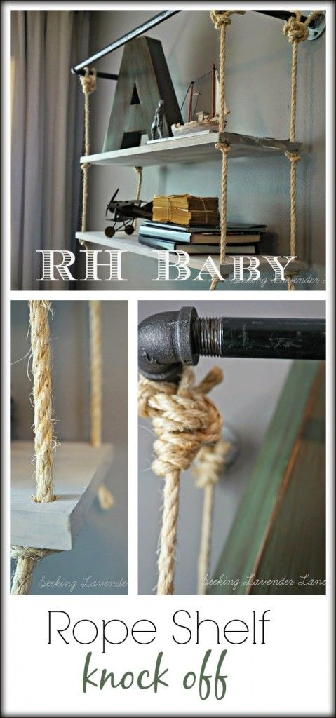 RH Baby Rope Shelf Knock Off