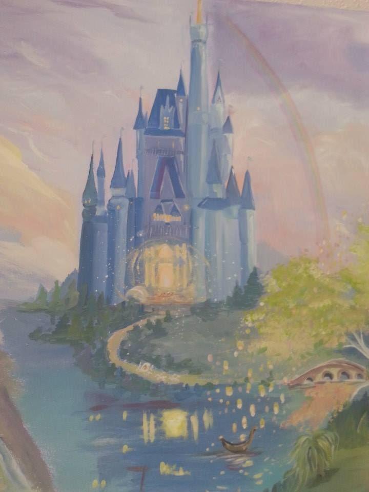 Cinderella 39 s castle kids bedroom murals pinterest for Disney castle mural