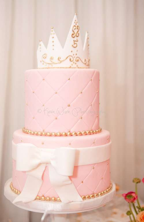 Lovely cake at a princess birthday party! See more party planning ideas at CatchMyParty.com!