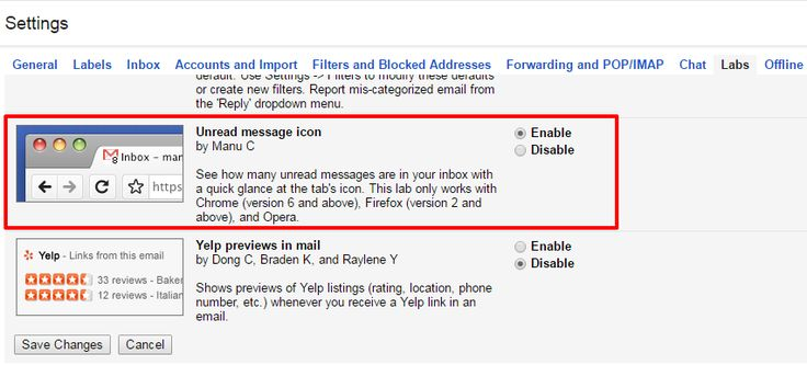 Gmail unread messages count in tabs - Step-by-step guide to enable unread message icon in gmail and show unread emails count on the browser tabs.