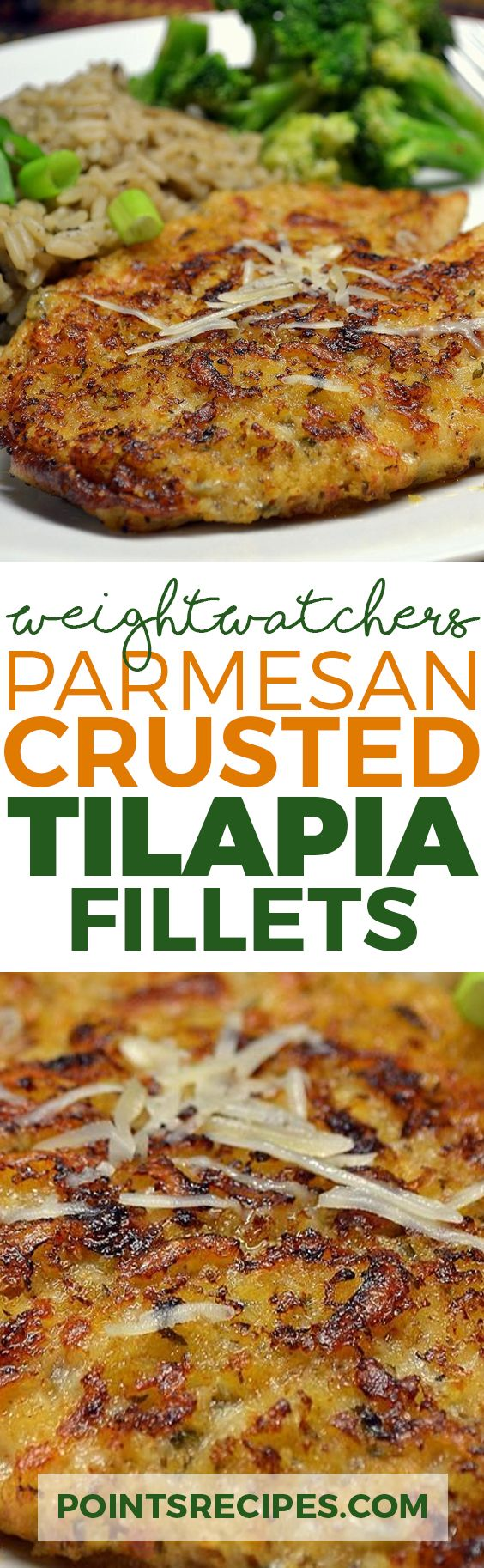 PARMESAN CRUSTED TILAPIA FILLETS WITH WEIGHT WATCHERS SMARTPOINTS
