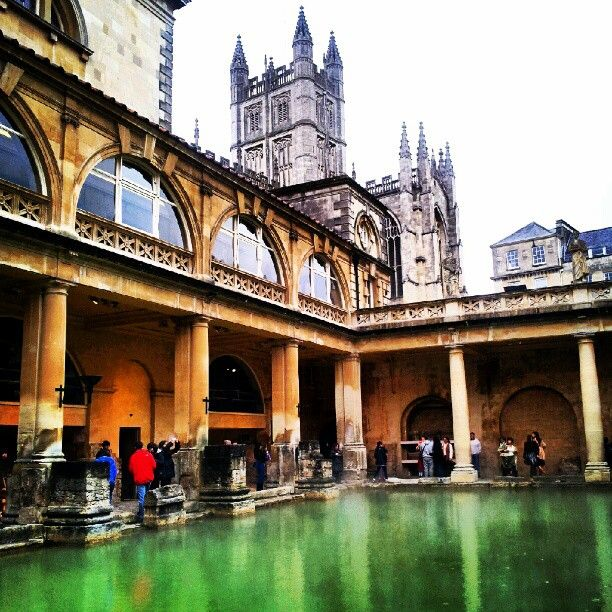 The Roman Baths in Bath,