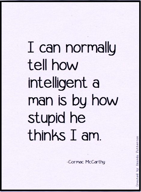 Happy Birthday, Cormac McCarthy, born 20 July 1933. Follow this link for more quotes.