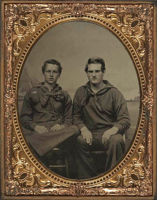 Two unidentified sailors in Union uniforms