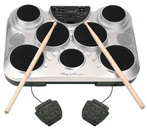Best Gifts for 10 Year Old Boys. Spectrum AIL 602 7-Pad Digital Drum Set with Adjustable Stand