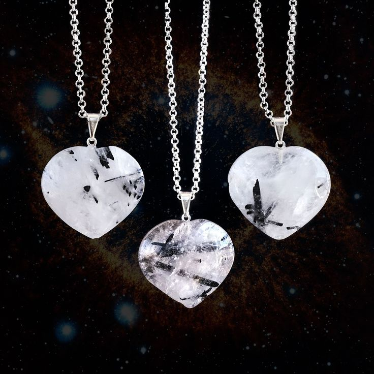 These tourmalinated quartz heart pendants are beyond exquisite. Tourmalinated quartz is such a unique, beautiful stone that I absolutely love for its...