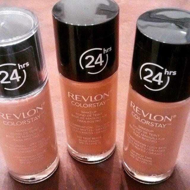 Mis hermosas nuevas adquisiciones que tanto busque y se hicieron desear!  Tres tonos de las bases Revlon Colorstay, que prometen una duración de 24 horas con efecto luminoso y gran cobertura. Con su tecnología Softflex no reseca la piel  #makeup #foundation #happines #revloncolorstay #revlon #loveforever