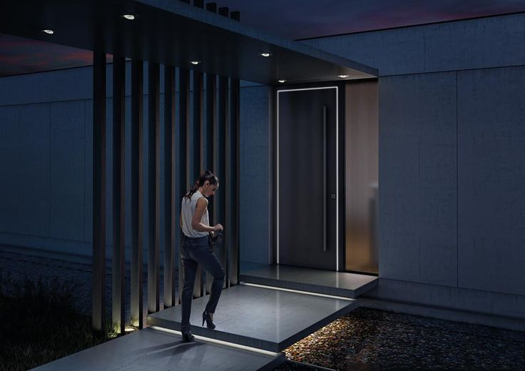 Entrance Door NEVOS WELCOME with LED lighting