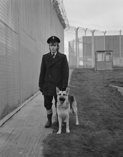 Guard Duty at Parkhurst Prison, Isle of Wight, England, United Kingdom, 1974, photograph by Evelyn Hofer.