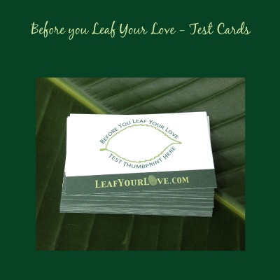 Test Cards for Fingeprint thumbprint tree wedding guestbook