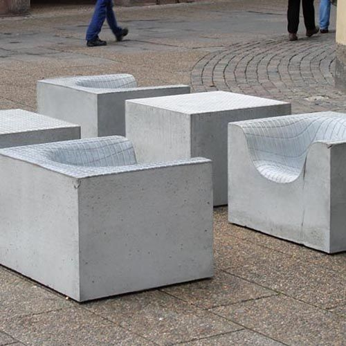 Concrete furniture by Danish Designers Komplot for Nola #Danish #DanishDesign