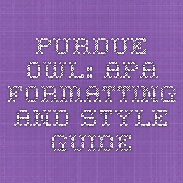 Pudue owl apa